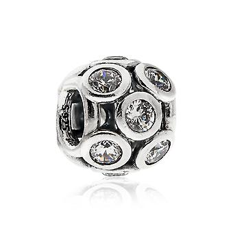 Pandora genombrutna gnistrande cirklar Silver & klar CZ charm 791153CZ