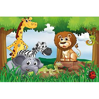 Tapete Wandbild Dschungel Tiere