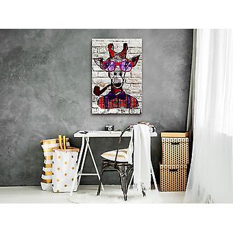 Painting - Hipster Giraffe (1 Part) Vertical60x90