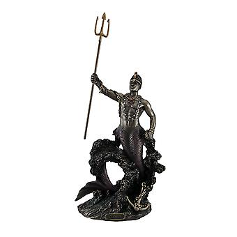 Olokun Owner of the Deep Sea Bronze Finish Statue