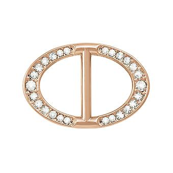 Eeuwige collectie Legacy Crystal Rose Gold Tone sjaal Ring