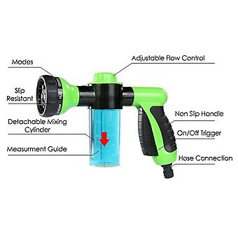 TRIXES Garden Hose Attachment Spray Gun Nozzle with Reservoir for Soap/Fertiliser