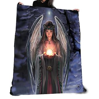 Wild star hearts - yule angel - fleece blanket / throw / tapestry