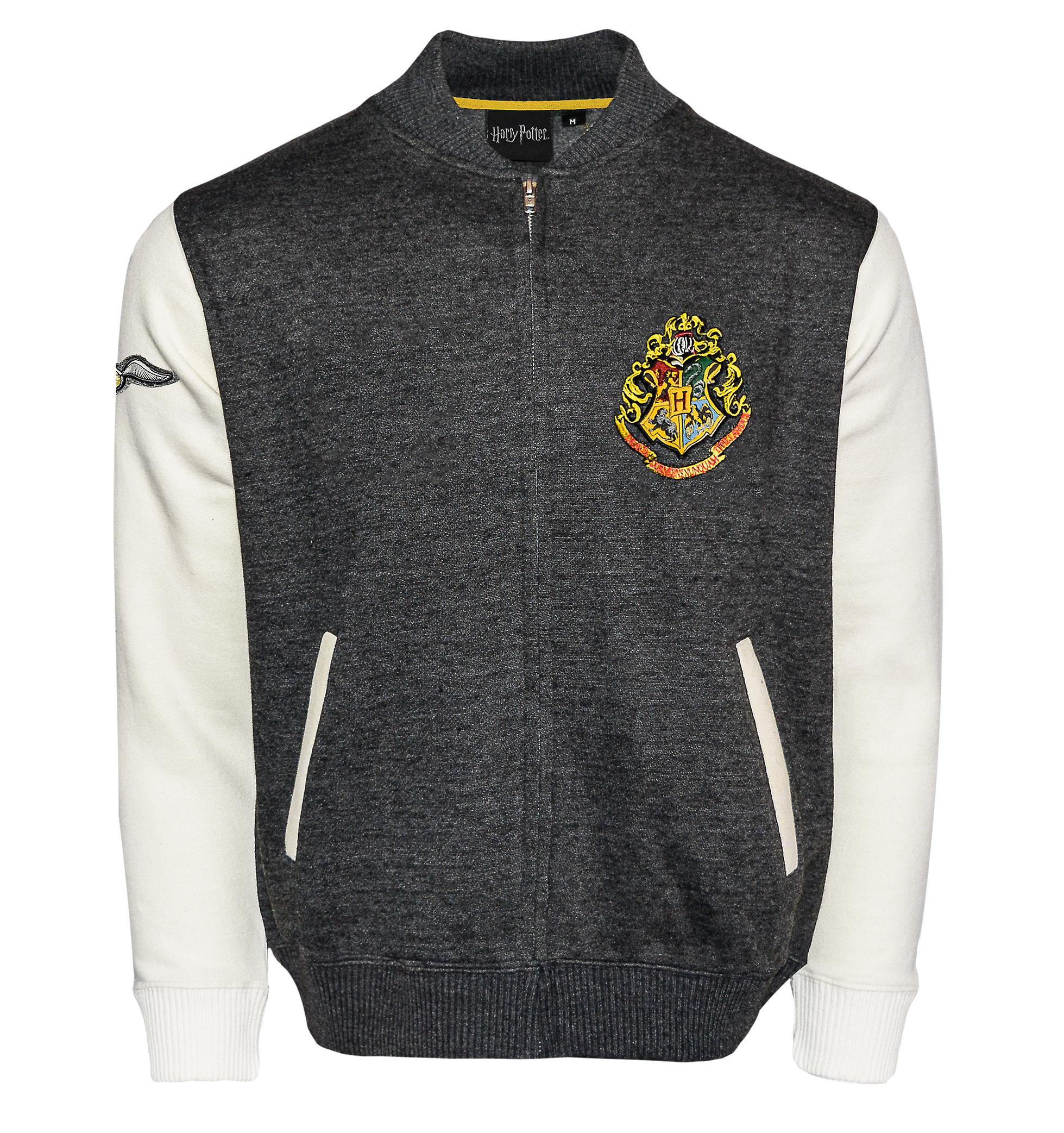 Licensed harry potter™ unisex hogwarts™ applique embroidery baseball jacket