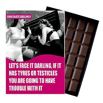 Funny Rozwód Prezent dla kobiet Silly Boxed Chocolate Prezent dla przyjaciela z Oncocoa CDL101