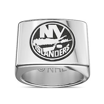New York Islanders Ring In Sterling Silver Design by BIXLER