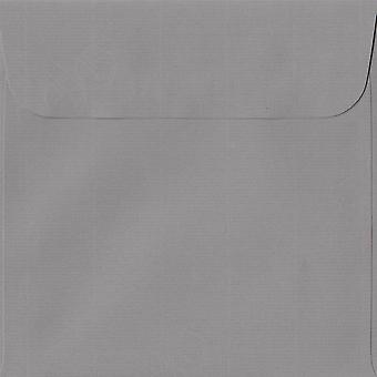 Graphite Grey Peel/Seal 160mm Square Coloured Grey Envelopes. 100gsm Swiss Premium FSC Paper. 160mm x 160mm. Wallet Style Envelope.