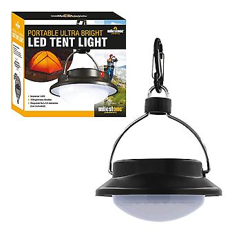 Milestone 60 LED Ultra Bright Portable Tent Light Black