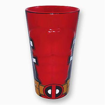 Pint Glas - Marvel - Deadpool - Brust geformt Keramik rot 16345