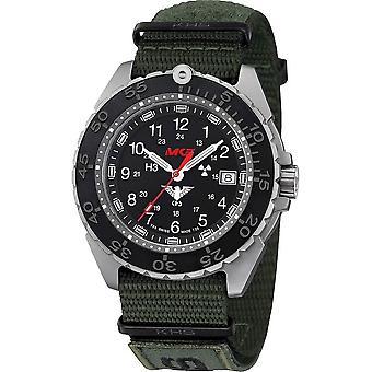 KHS Wristwatch الرجال المنفذ تيتان CR مع حلف شمال الأطلسي باند XTAC الزيتون KHS. ENFTCR. NXTO1