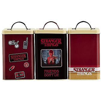 Fremmede ting sett med 3 Storage bokser