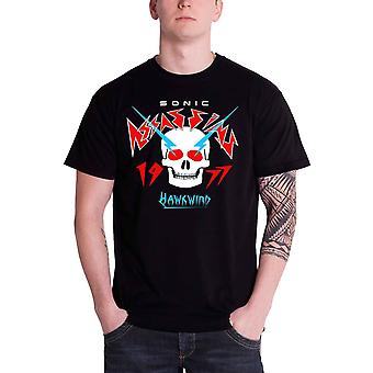 Hawkwind Mens T Shirt Black Sonic Assassins 1977 band logo Official
