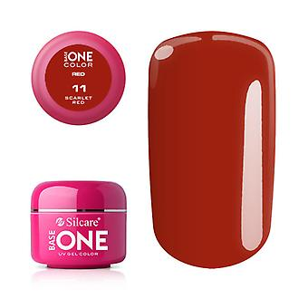 Base one-Color-Scarlet red 5g UV Gel