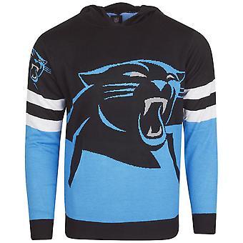 NFL Ugly Sweater Big Logo Knit Hoody - Carolina Panthers