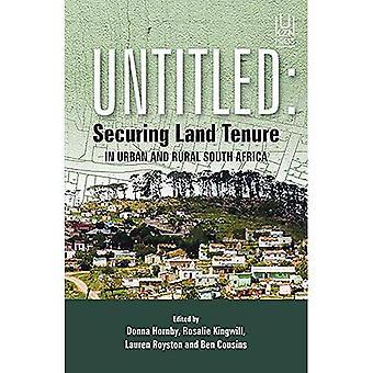 Untitled: Sécurisation foncière en milieu urbain et rural Afrique du Sud