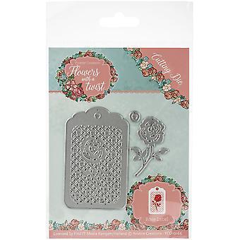 Hitta det handel Yvonne Creations Die-Rose etikett, blommor med en twist