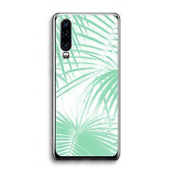 Funda transparente Huawei P30 - Hojas de palma
