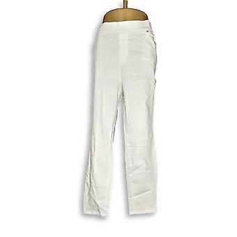 Martha Stewart Femmes apos;s Plus Jeans Knit Denim Ankle Blanc A351436