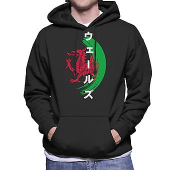 Wales Rugby World Cup Japón 2019 Paint Dragon Men's Hooded Sweatshirt