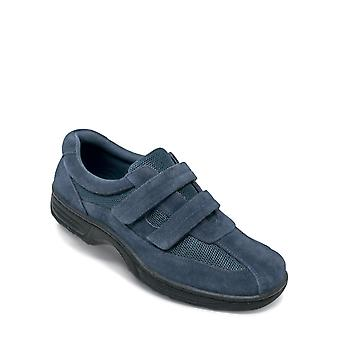 Chums Mens Shoe Wide Fit Touch Fasten With Gel Pad