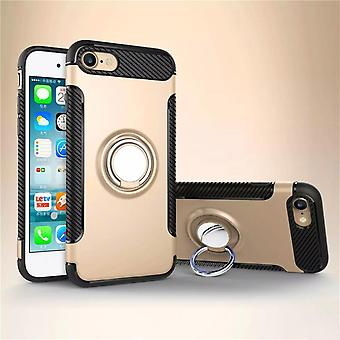 Iphone 6 / 6S hybrid armor shell magnetic case gold