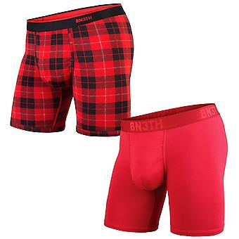BN3TH 2 Pack Classic Boxer Briefs - Crimson/Red