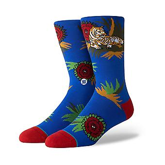 Stance Posted Crew Socks in Royal