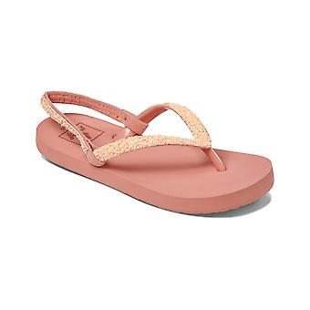 Reef Little Stargazer Flip Flops in Coral