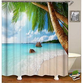 Tropisch strand douche gordijn