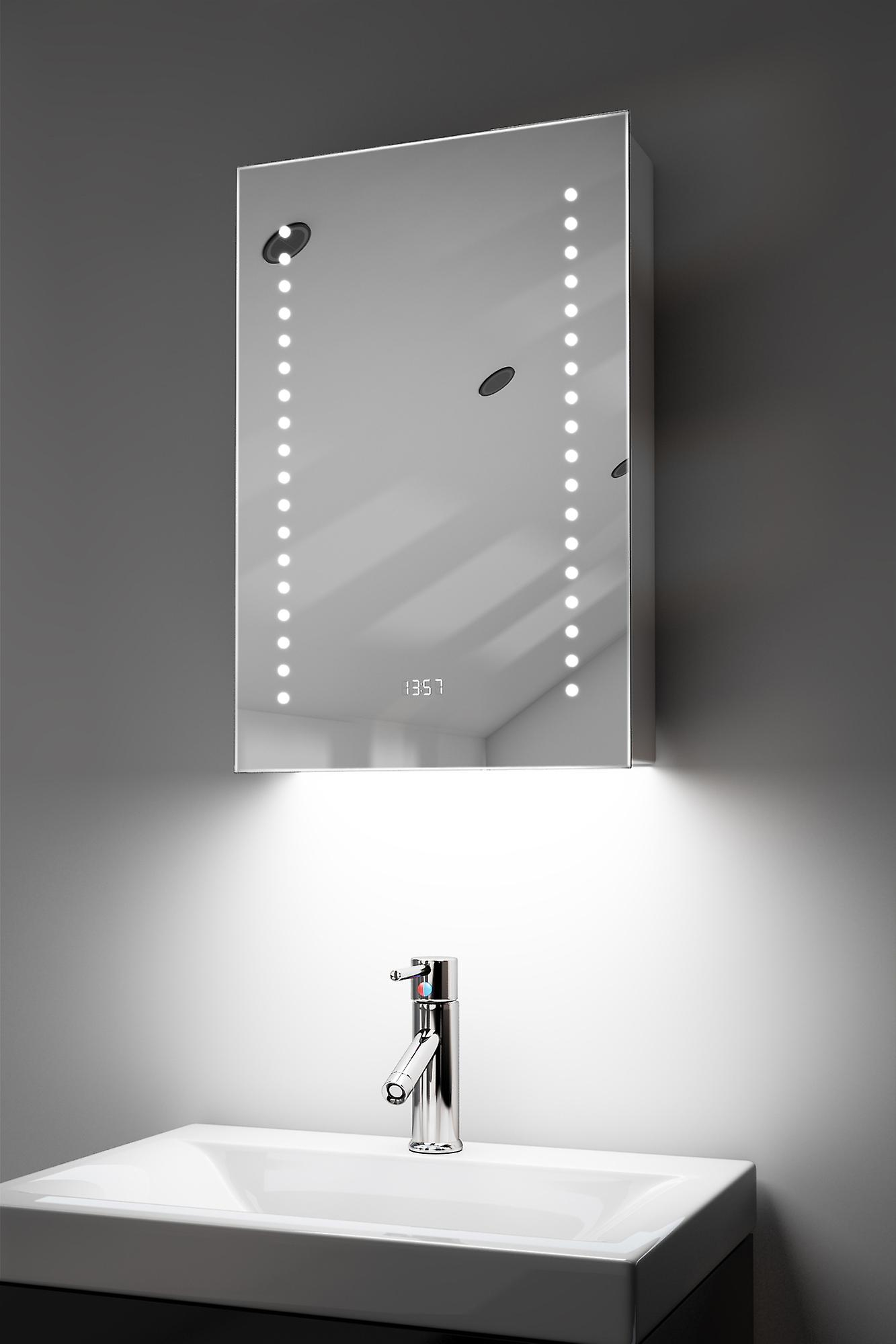 RGB Audio Bathroom Cabinet With Sensor & Shaver Socket k381rgbaud