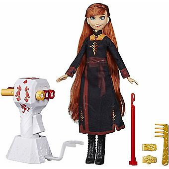 Disney Frozen 2 Anna doll with Extra long hair and braid machine