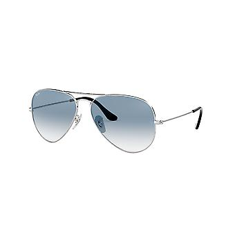 Lunettes de soleil Ray-Ban Aviator Silver /Crystal Gradient Light Blue