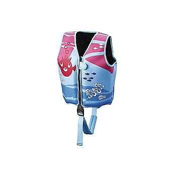 BECO Sealife Swimming Vest - Blue/Pink-Small