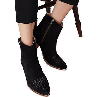 Joules Donna Elmwood zip Up Pelle Suede Stivali alla caviglia