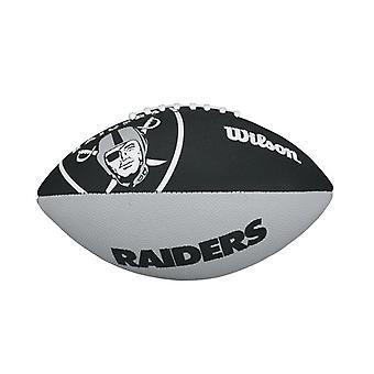 ويلسون NFL فريق شعار أوكلاند غزاة كرة القدم الأمريكية جونيور الأسود