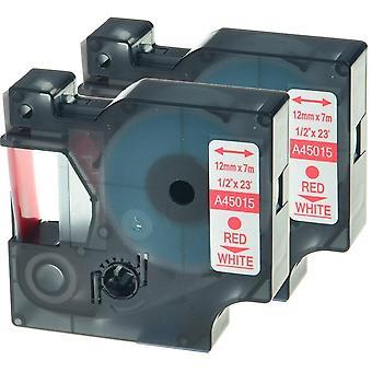 Kaseta Prestige™ kompatybilna d1 45015 na białe taśmy (12mm x 7m) dla producentów etykiet elektronicznych