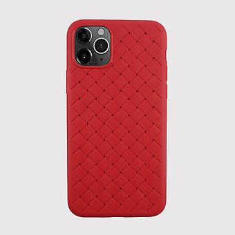 Textured Weave Red iPhone 11 Pro Case