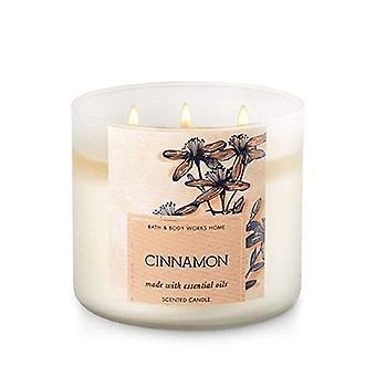 Bath & Body Works Home Cinnamon Made With Essential Oils Scented Candle 14.5 oz / 411 g