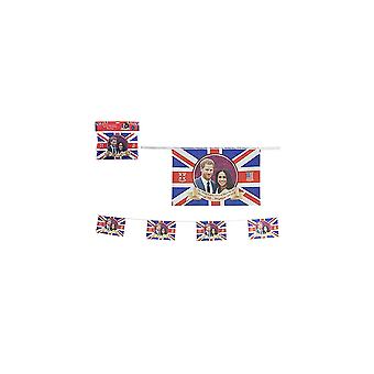 Royal Couple Rayon Flag With Grommets