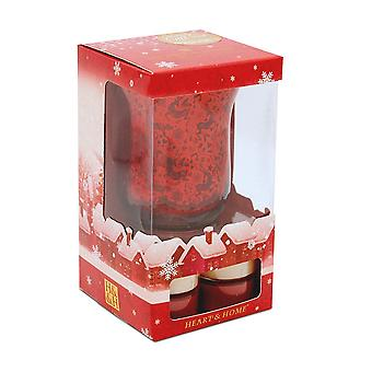 Heart & Home Tealight Winter Gift Set With Holder