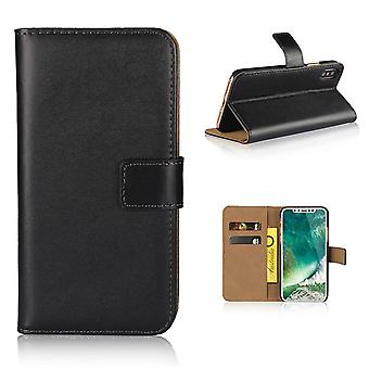 Pour iPhone XS Max Wallet Case,Elegant Slim Leather Cover Card Holder,Black