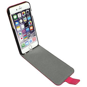 For iPhone 6S,6 Case,Fashion Elegant Genuine Lychee Leather Flip Cover,Pink