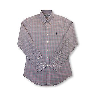 Ralph Lauren slim fit cotton stretch shirt in red/blue/white check