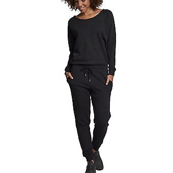Urban Classics Ladies - Terry Longsleeve Jumpsuit schwarz