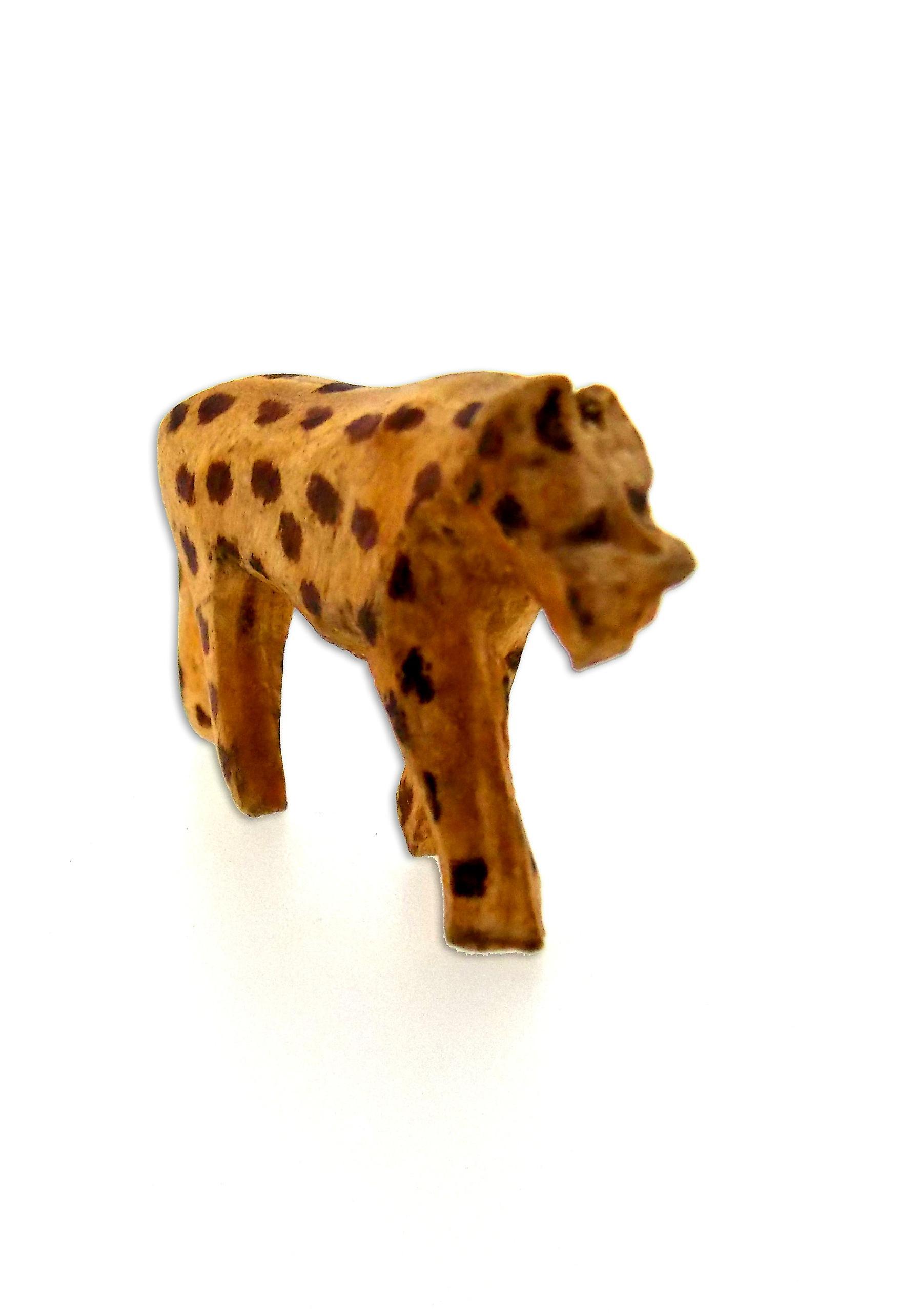 Hand-carved Wooden Animals Figurine - 7 Piece (2L x 5S)