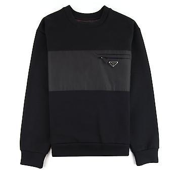 Prada Technisches Logo Sweatshirt Schwarz
