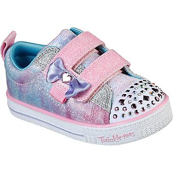 Skechers الفتيات المراوغة لايت الحلو توريد ضوء الأحذية