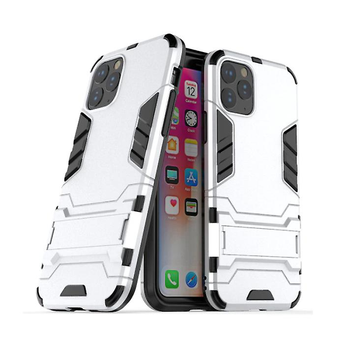 HATOLY iPhone 11 Pro - Robotic Armor Case Cover Cas TPU Case White + Kickstand