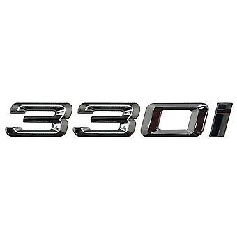 Silver Chrome BMW 330i Car Model Rear Boot Number Letter Sticker Decal Badge Emblem For 3 Series E36 E46 E90 E91 E92 E93 F30 F31 F34 G20