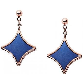 Fossil earrings JF03191791 - CLASSICS Dor Rose Nacre Steel